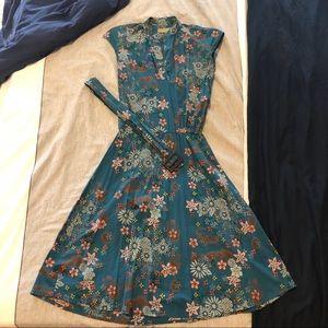 Lost Knee Length Floral Dress
